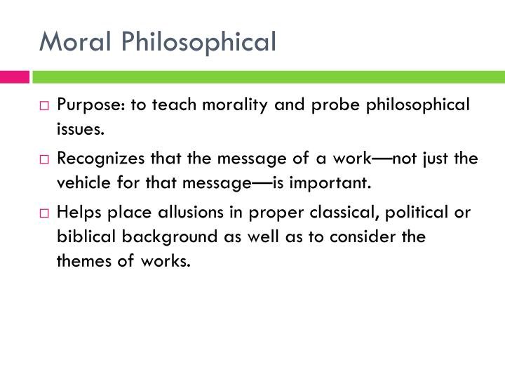 Moral philosophical