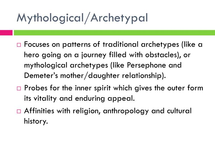 Mythological/Archetypal