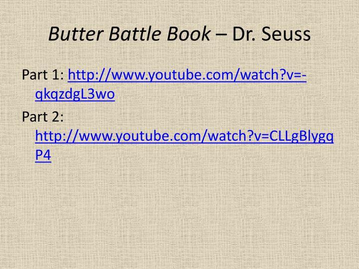 Butter Battle Book