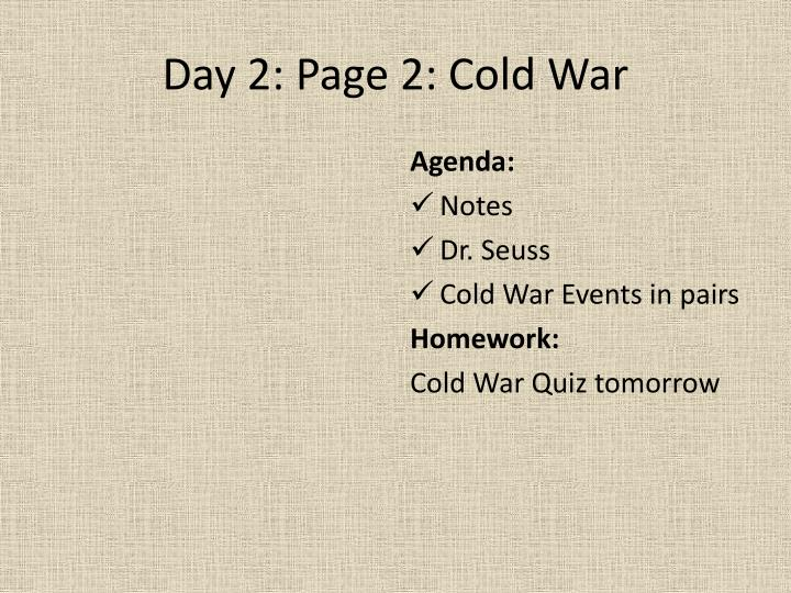 Day 2: Page 2: Cold War