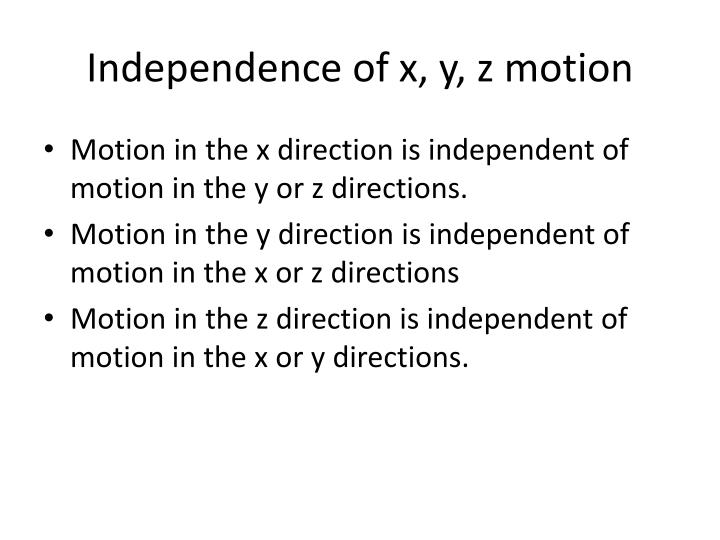 Independence of