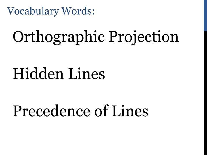 Vocabulary Words: