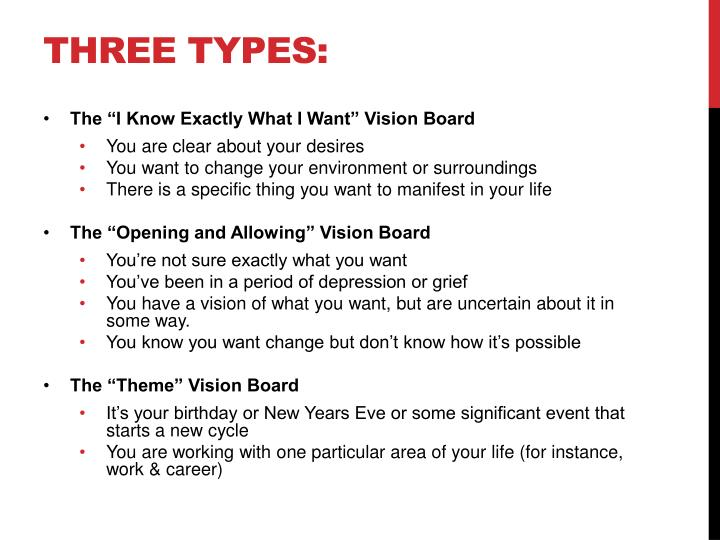 Three types: