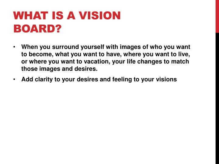 What is a vision board?