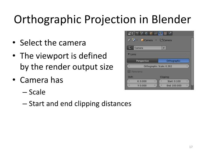 Orthographic Projection in Blender