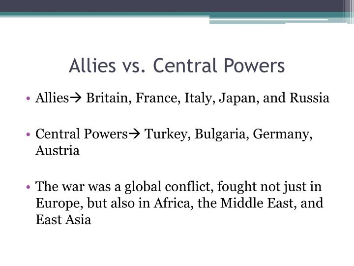 Allies vs. Central Powers