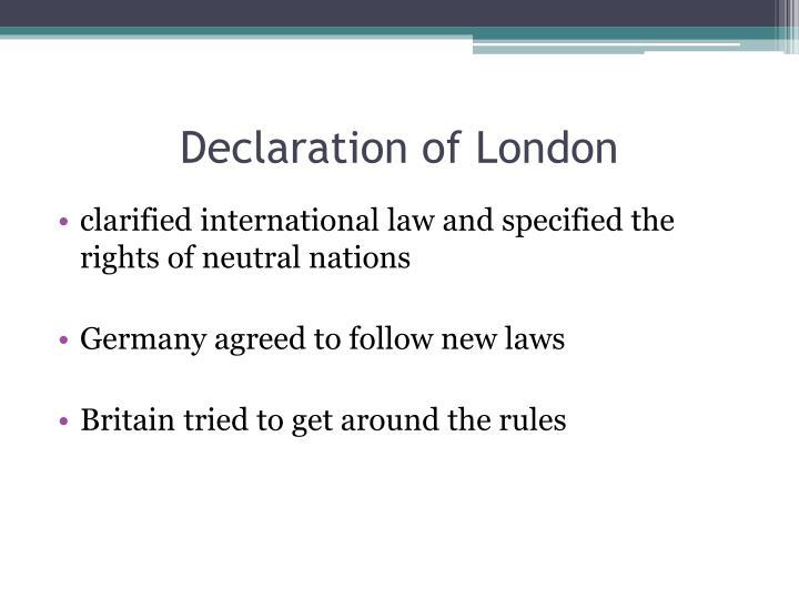 Declaration of London