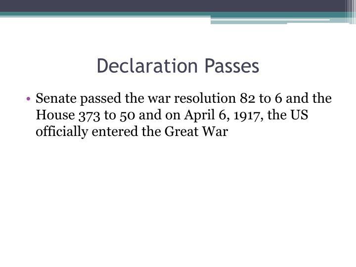 Declaration Passes