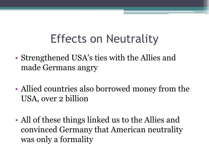 Effects on Neutrality