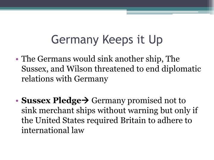 Germany Keeps it Up