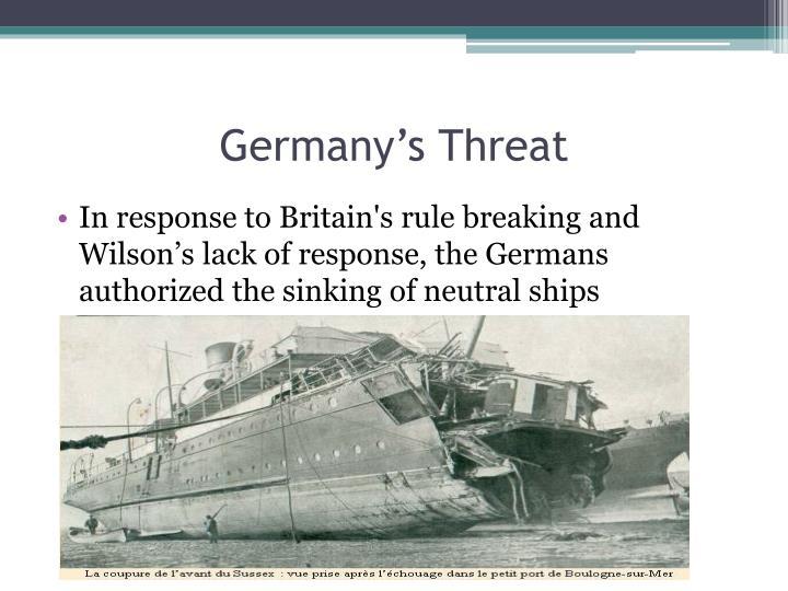Germany's Threat