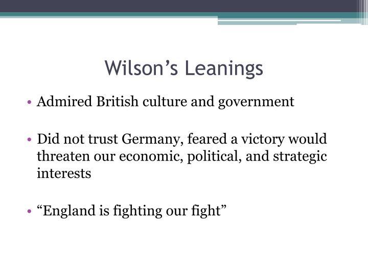 Wilson's Leanings
