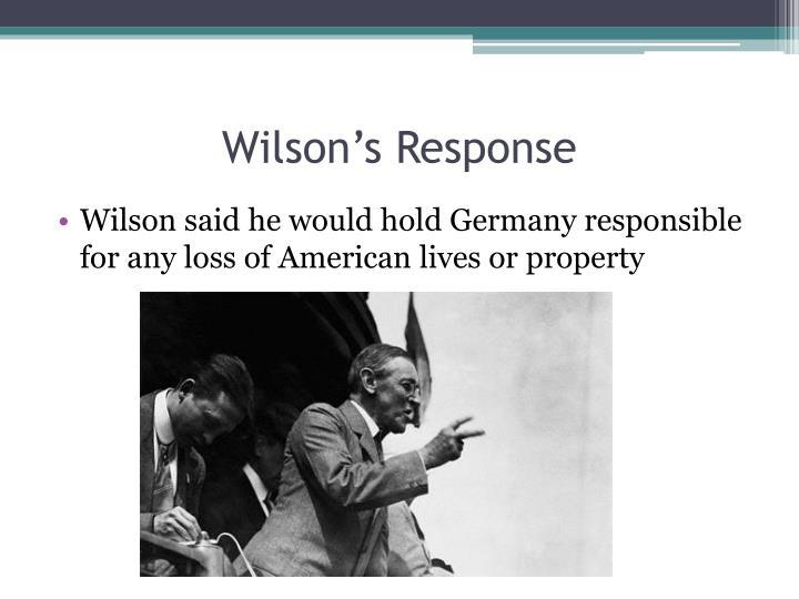 Wilson's Response