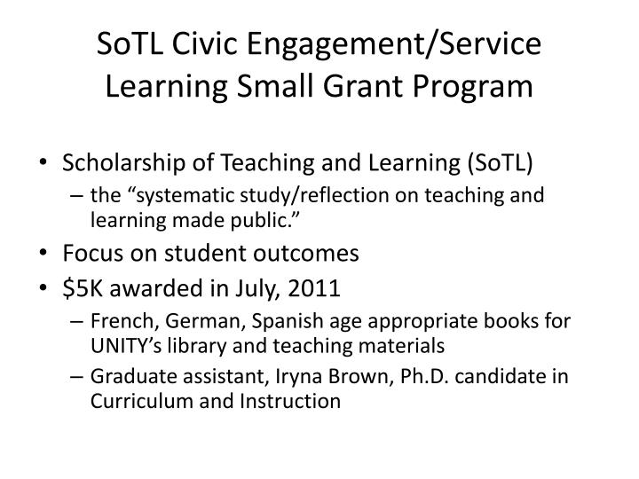 SoTL Civic Engagement/Service