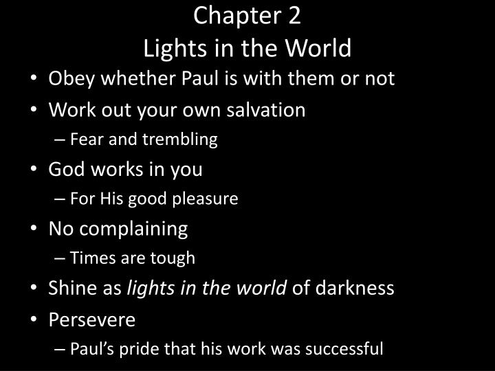 Chapter 2 lights in the world