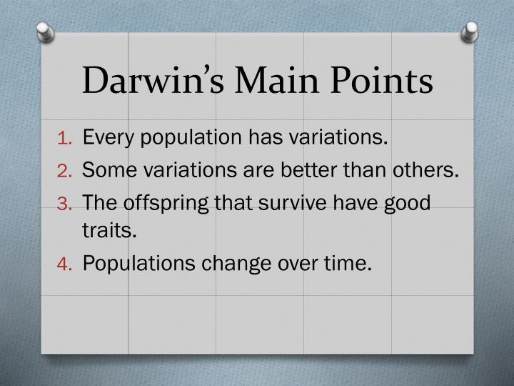 Darwin's Main Points