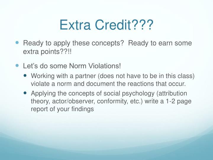 Extra Credit???