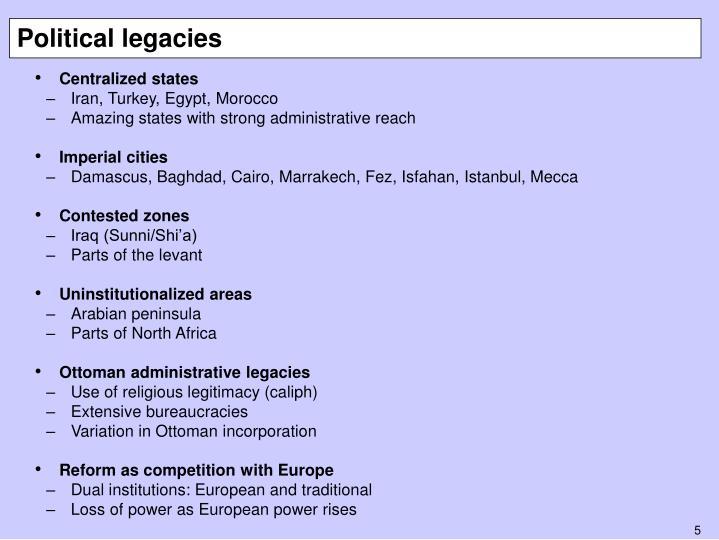 Political legacies