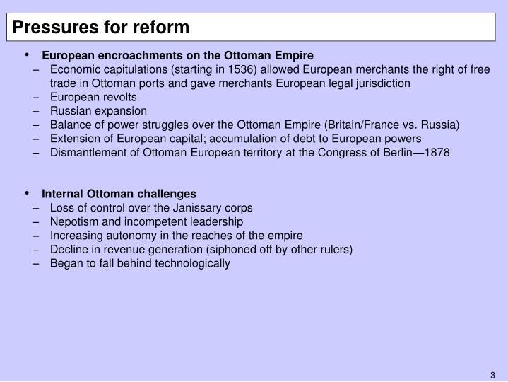 Pressures for reform