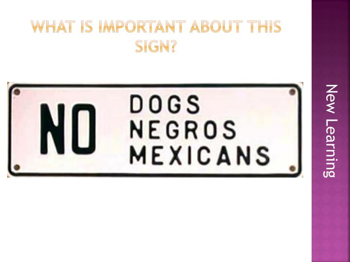 What is Important about this sign?