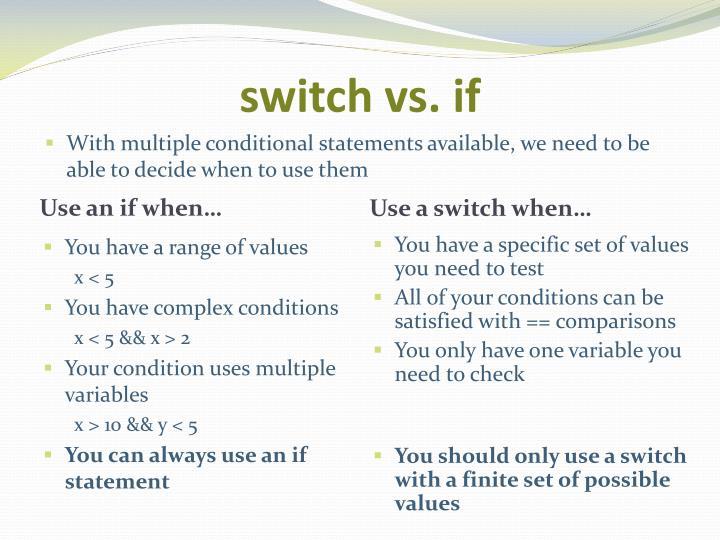 switch vs. if