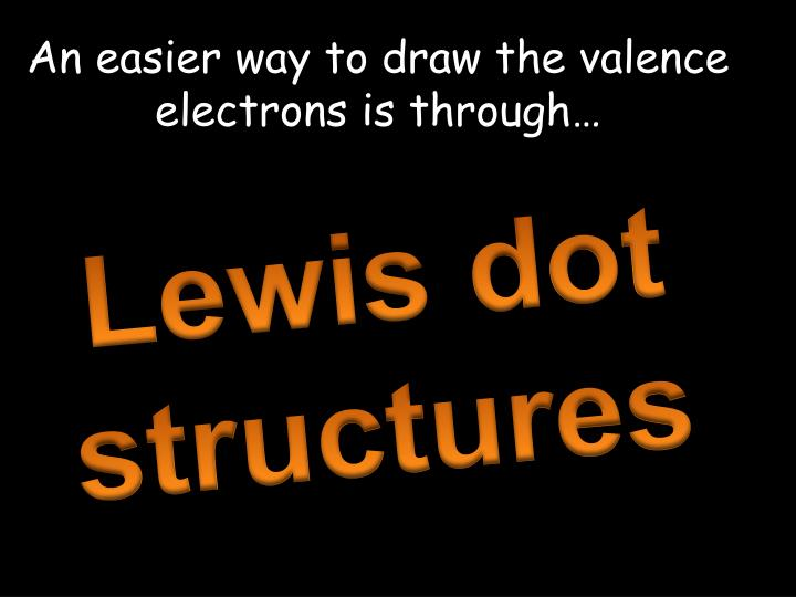 An easier way to draw the valence electrons is through…