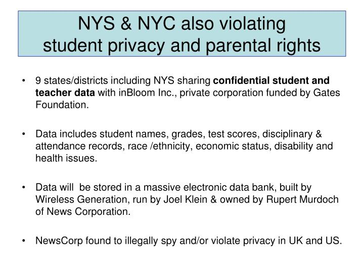 NYS & NYC also violating