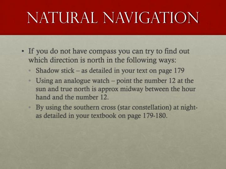 Natural navigation