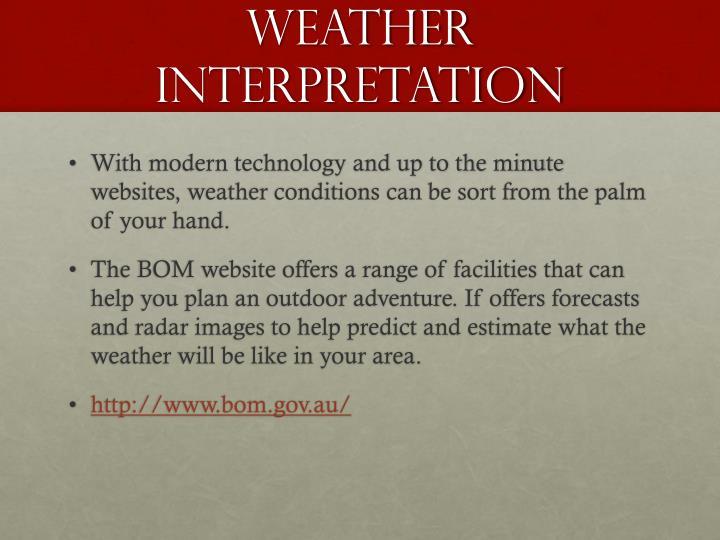 Weather interpretation