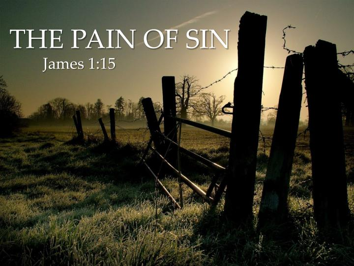 The pain of sin