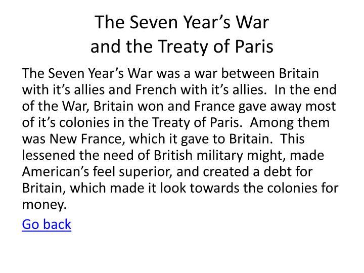 The Seven Year's War