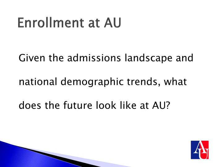 Enrollment at AU