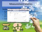 measurement metrics