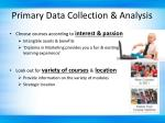 primary data collection analysis