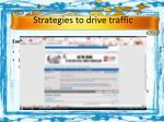 strategies to drive traffic
