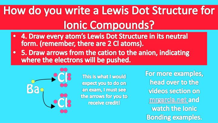 How do you write a Lewis Dot Structure for Ionic Compounds?