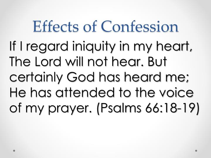 Effects of Confession