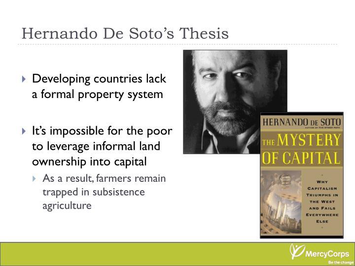 Hernando De Soto's Thesis