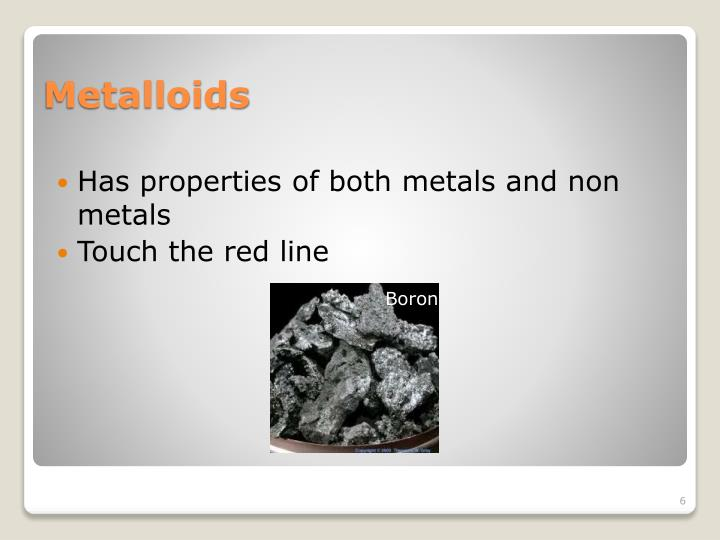 Has properties of both metals and non metals