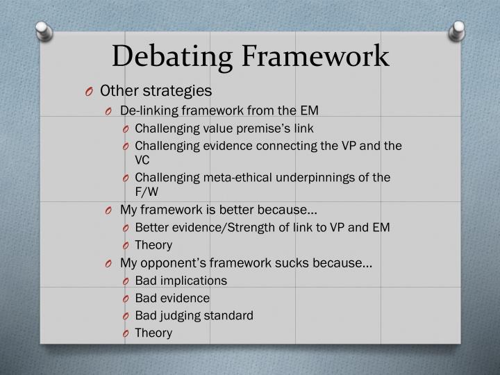 Debating Framework