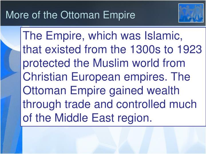 More of the Ottoman Empire
