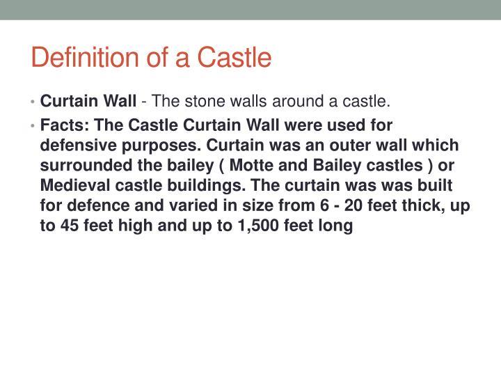 Definition of a Castle