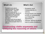 constructing viable arguments and critiquing the reasoning of others