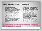 constructing viable arguments and critiquing the reasoning of others1