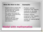 model with mathematics1