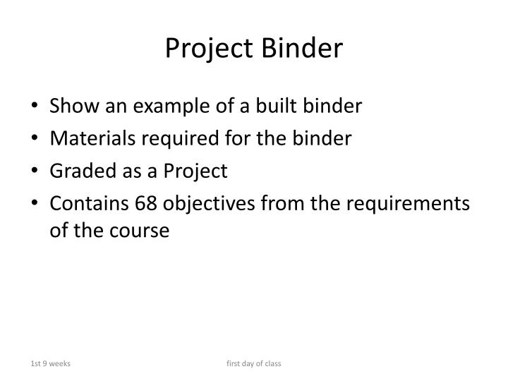 Project Binder