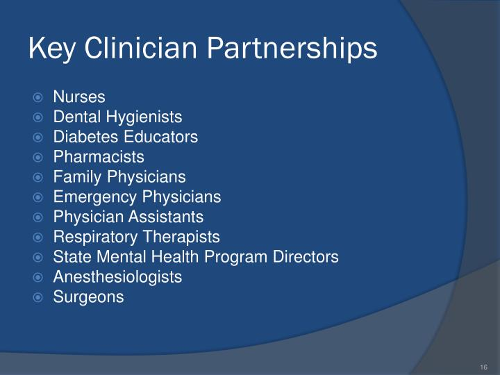 Key Clinician Partnerships