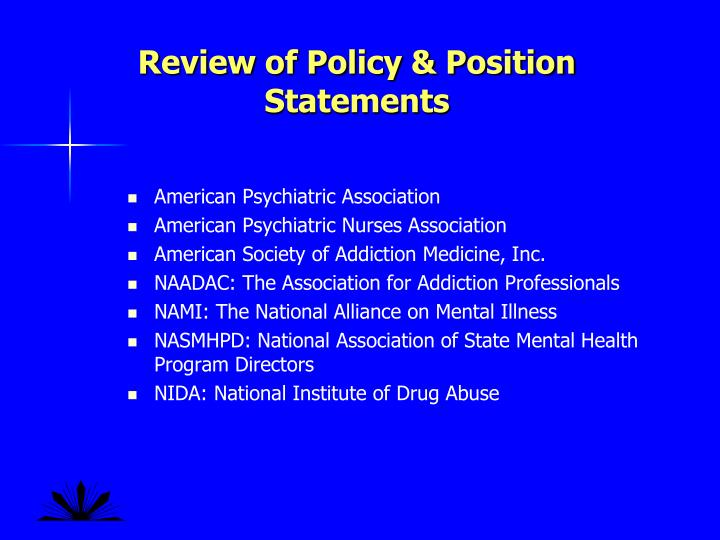 Review of Policy & Position Statements
