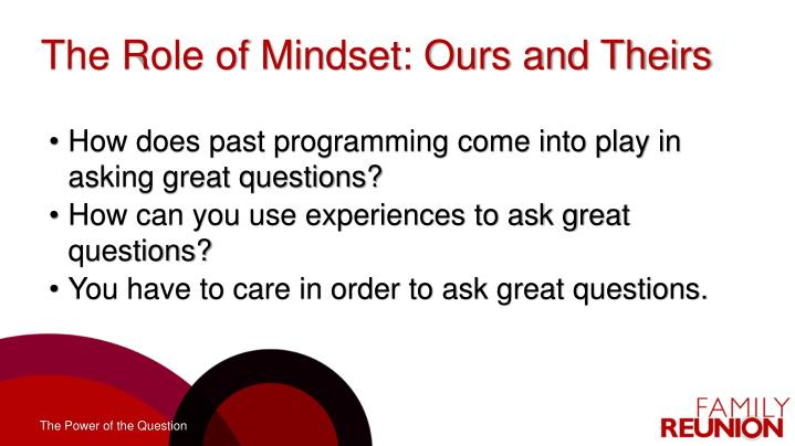 The Role of Mindset: Ours and Theirs