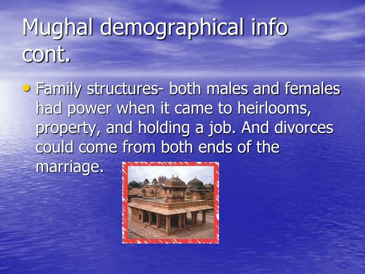 Mughal demographical info cont.
